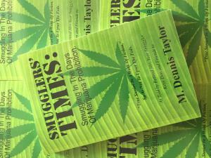 A stack of the book Smugglers' Times: Smuggling In The Days Of Marijuana Prohibition.