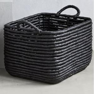 Black Woven Seagrass Basket