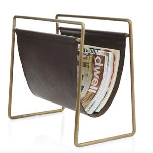 Galen Leather Magazine Rack