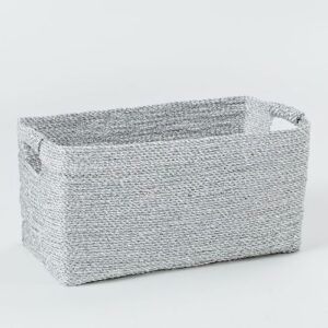 Metallic Woven Consol Basket