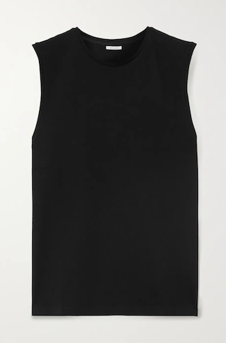 Ninety Percent Organic Cotton-Jersey Tank Black