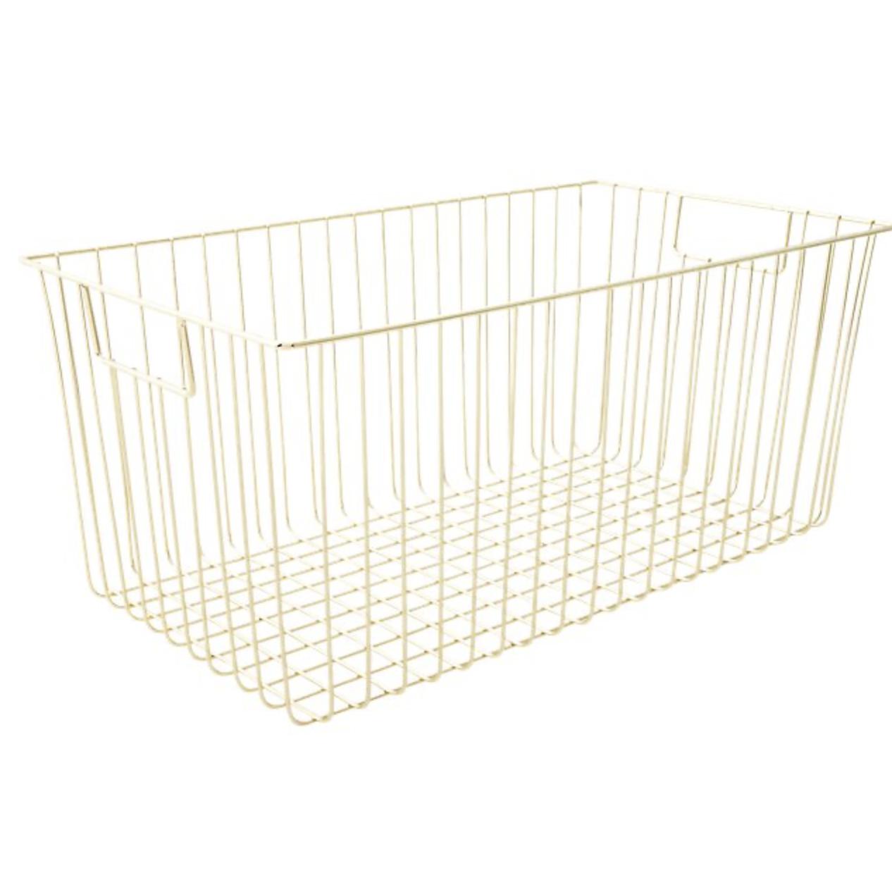CB2 gold baskets