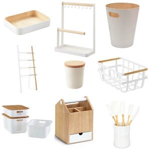 White and wood products small