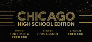 CHICAGO HIGH SCHOOL EDITION gold on black text logo
