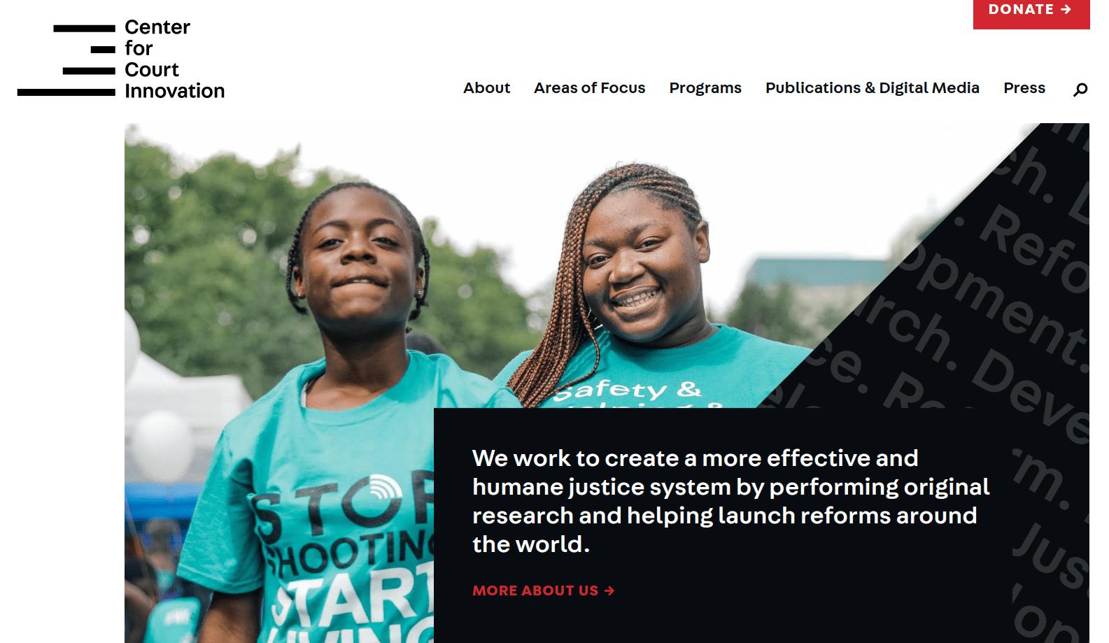 courtinnovation.org website