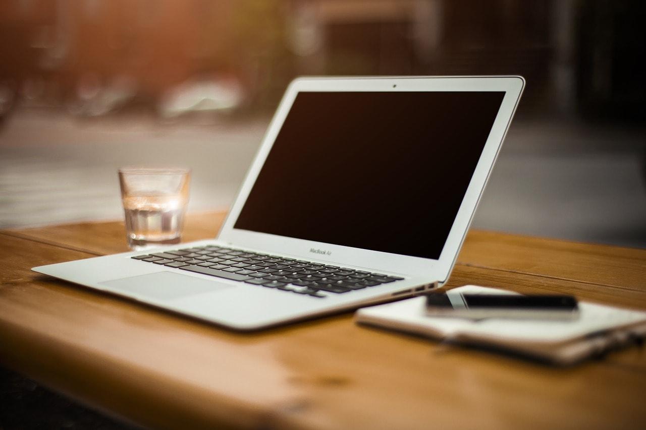 laptop at work