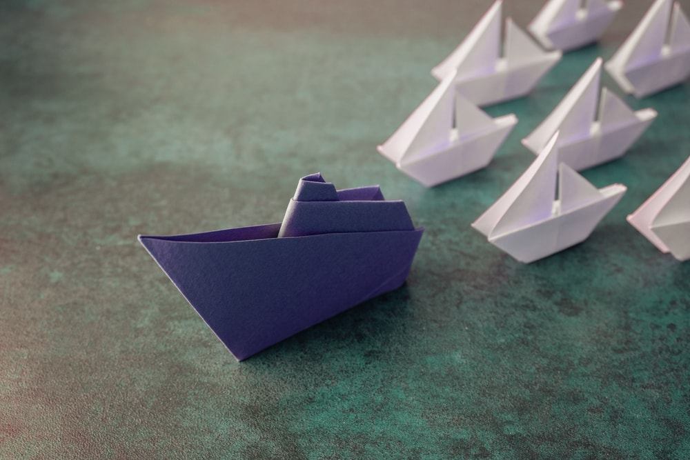 boat leading the way - leadership