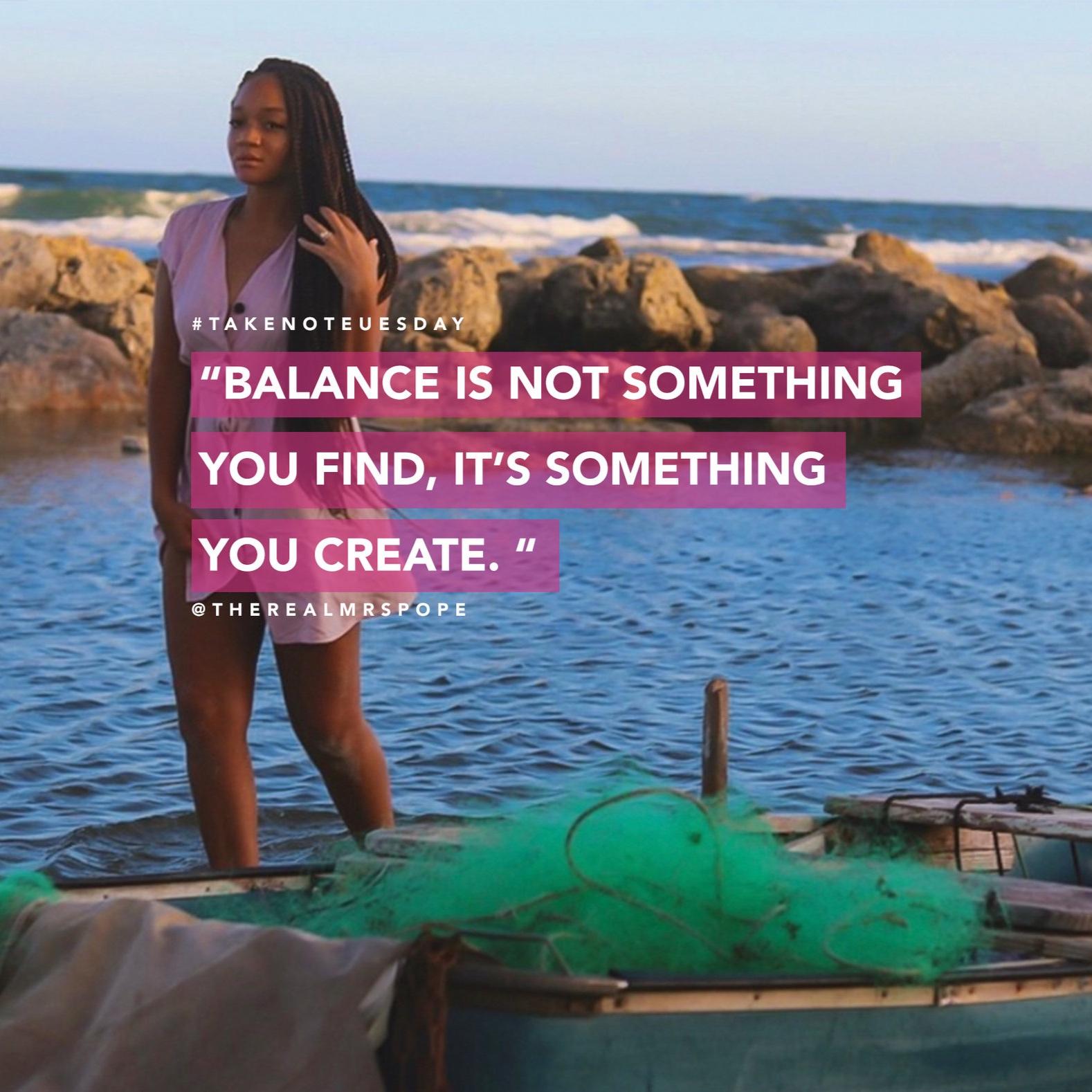 "The ""B"" Word: Balance"