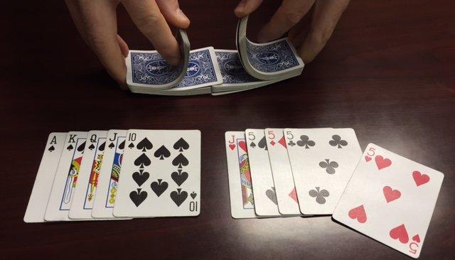 Dealing cards face-up