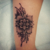 flower and dotwork