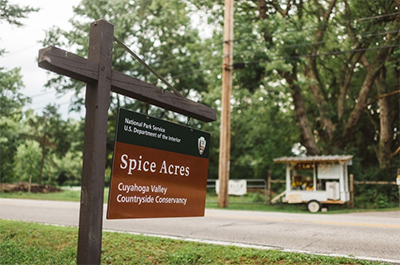 Spice Acres sign
