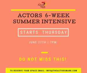 Actors 6-Week Summer Intensive