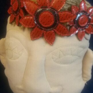 Red Sequin Vinyl Head Band
