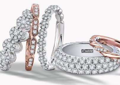 Wedding Bands for Her from A. Jaffe