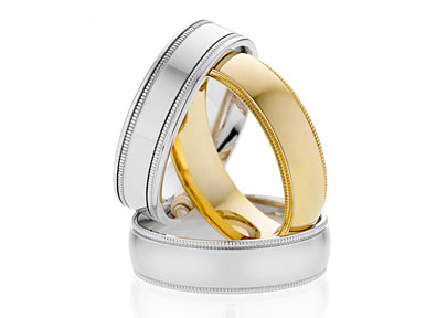 Wedding Bands in Silver and Gold from Dora Rings
