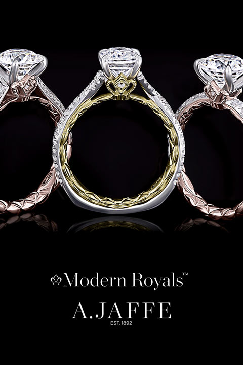 Modern Royals Engagement Rings by A. Jaffee