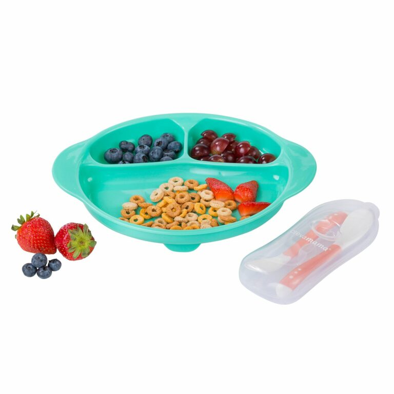 Feeding Plate & Cutlery Set with Suction Ring