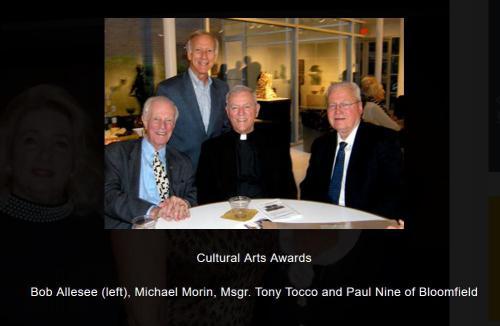 Bob Allesee, Michael Morin, Msgr Tony Tocco, Paul NIne at CAA