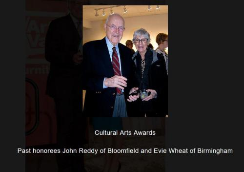 Past honorees John Reddy and Evie Wheat