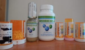 Just some of the medicine I don't have to take anymore thanks to all-natural Mobicosa!