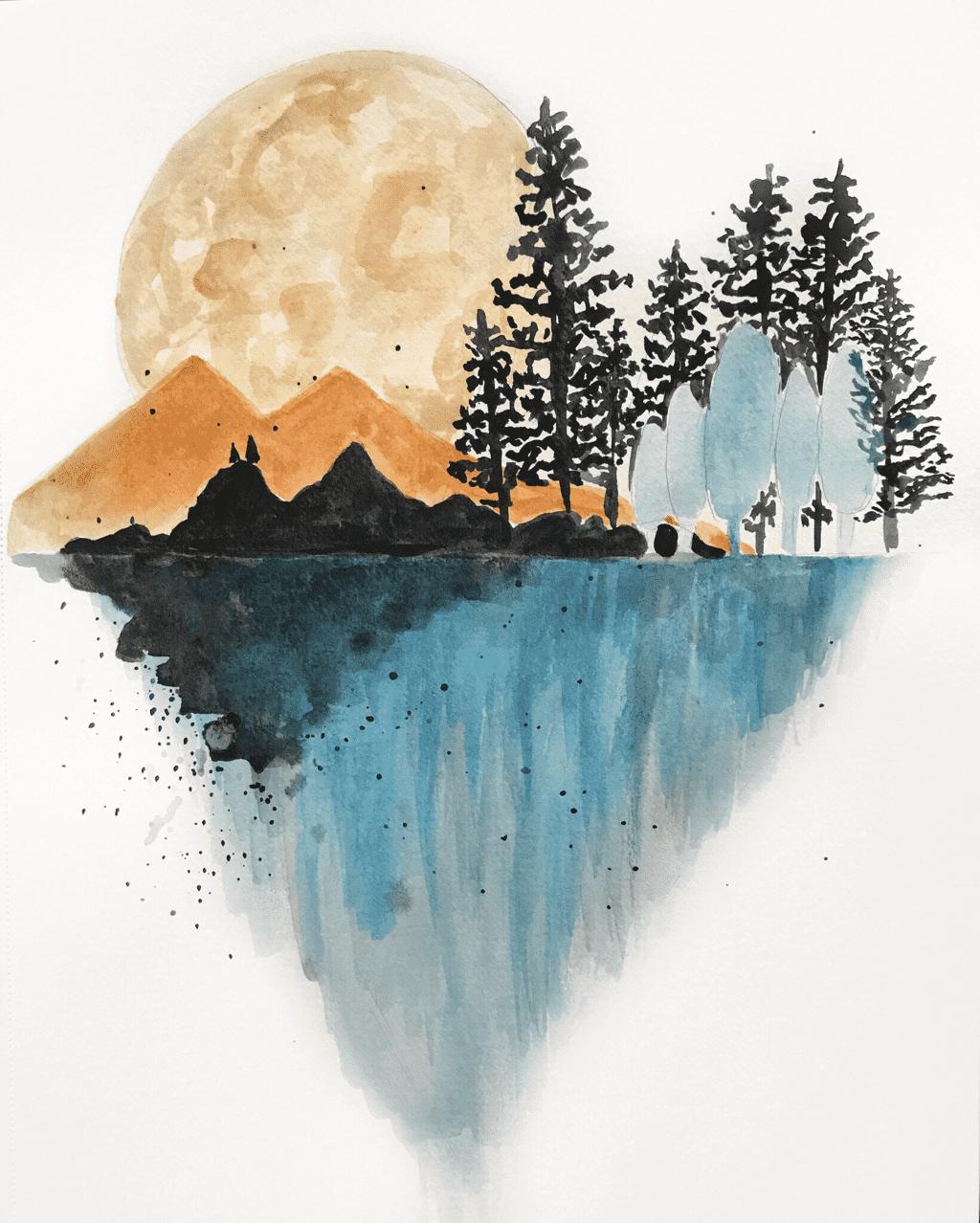 watercolorMountain