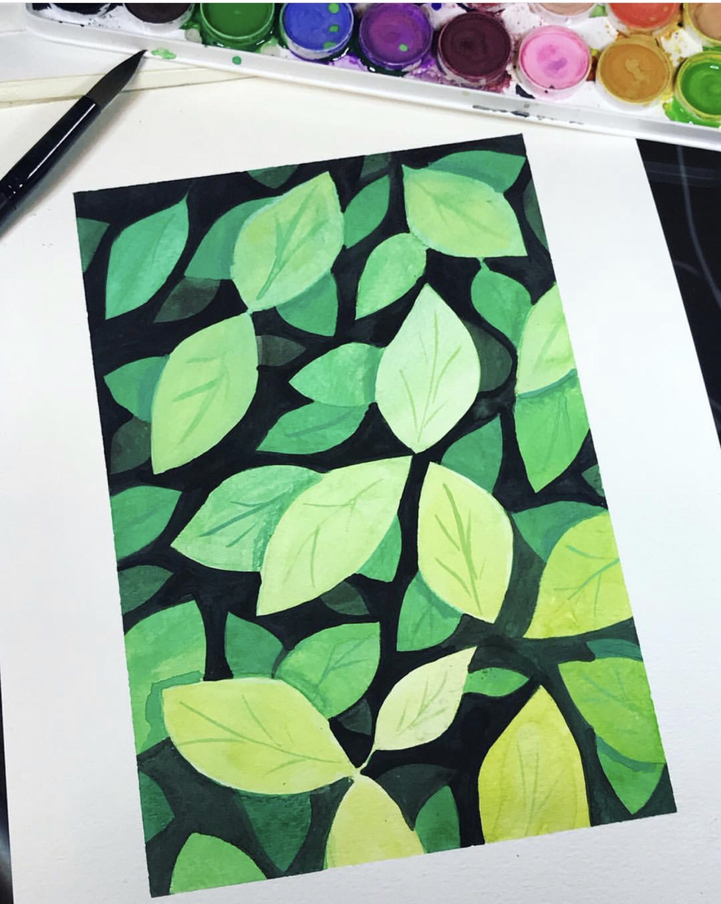 negative space leaves