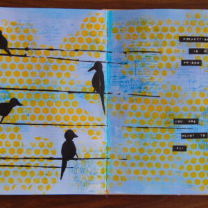 Art Journal page with birds