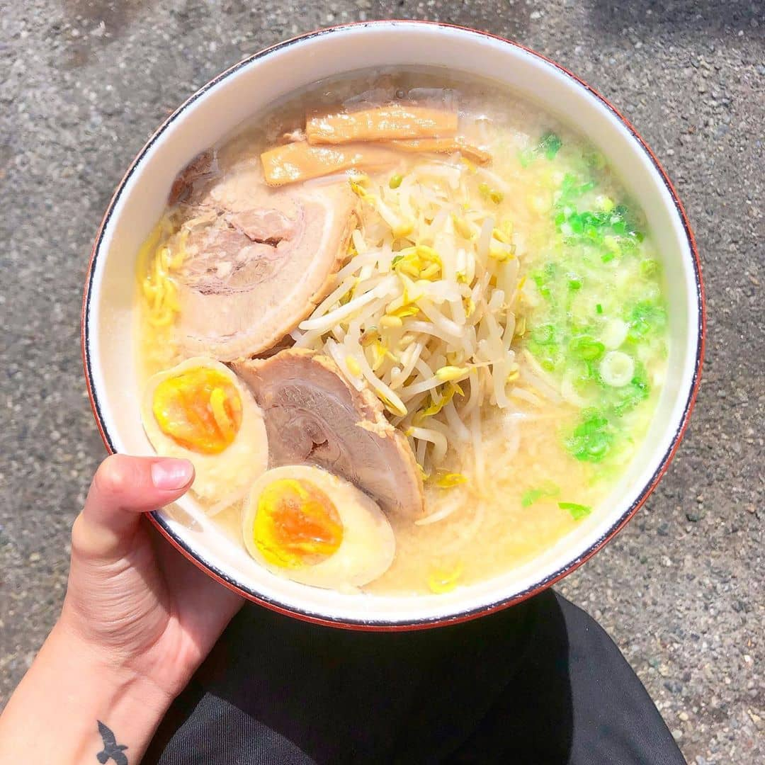 ramen bowl with eggs