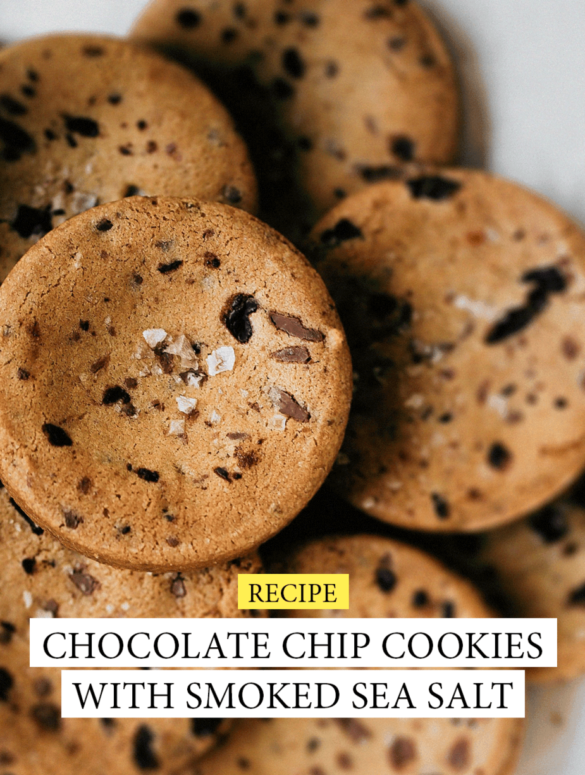 Chocolate chip cookies with smoked sea salt