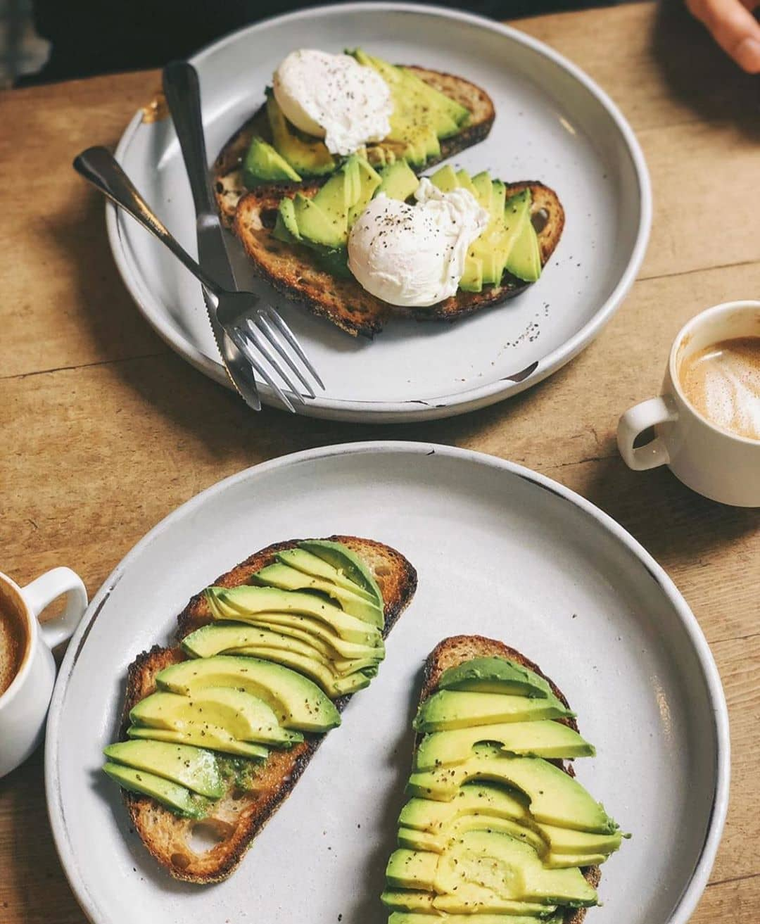 avocado toast on plate