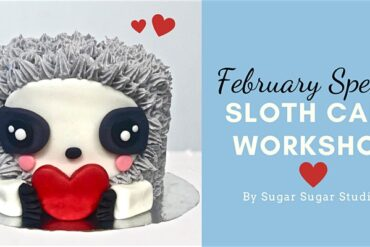 sloth cake workshop