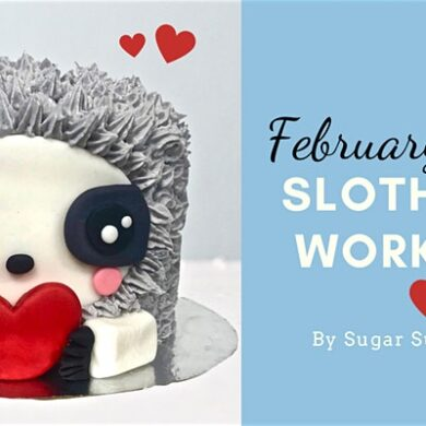 sloth cake workshop