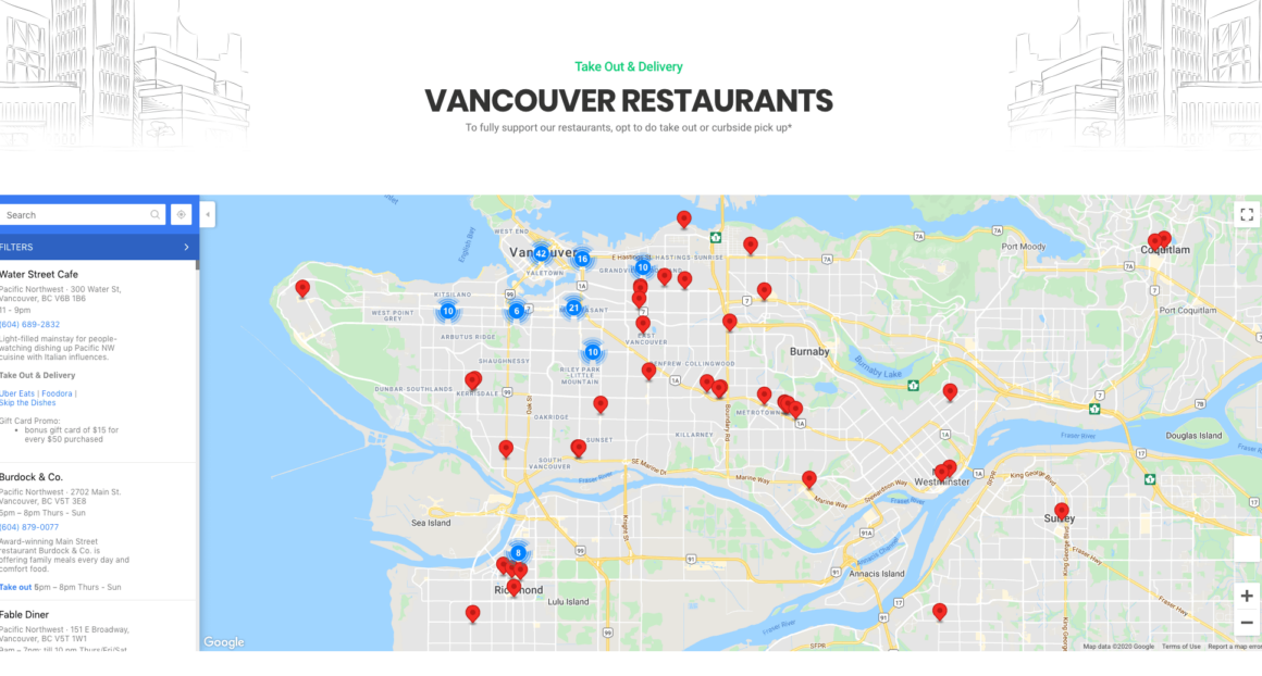 beat covid vancouver restaurant map