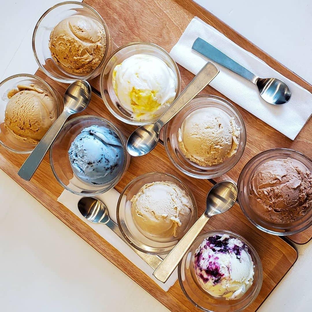 elephant garden creamery ice cream flight