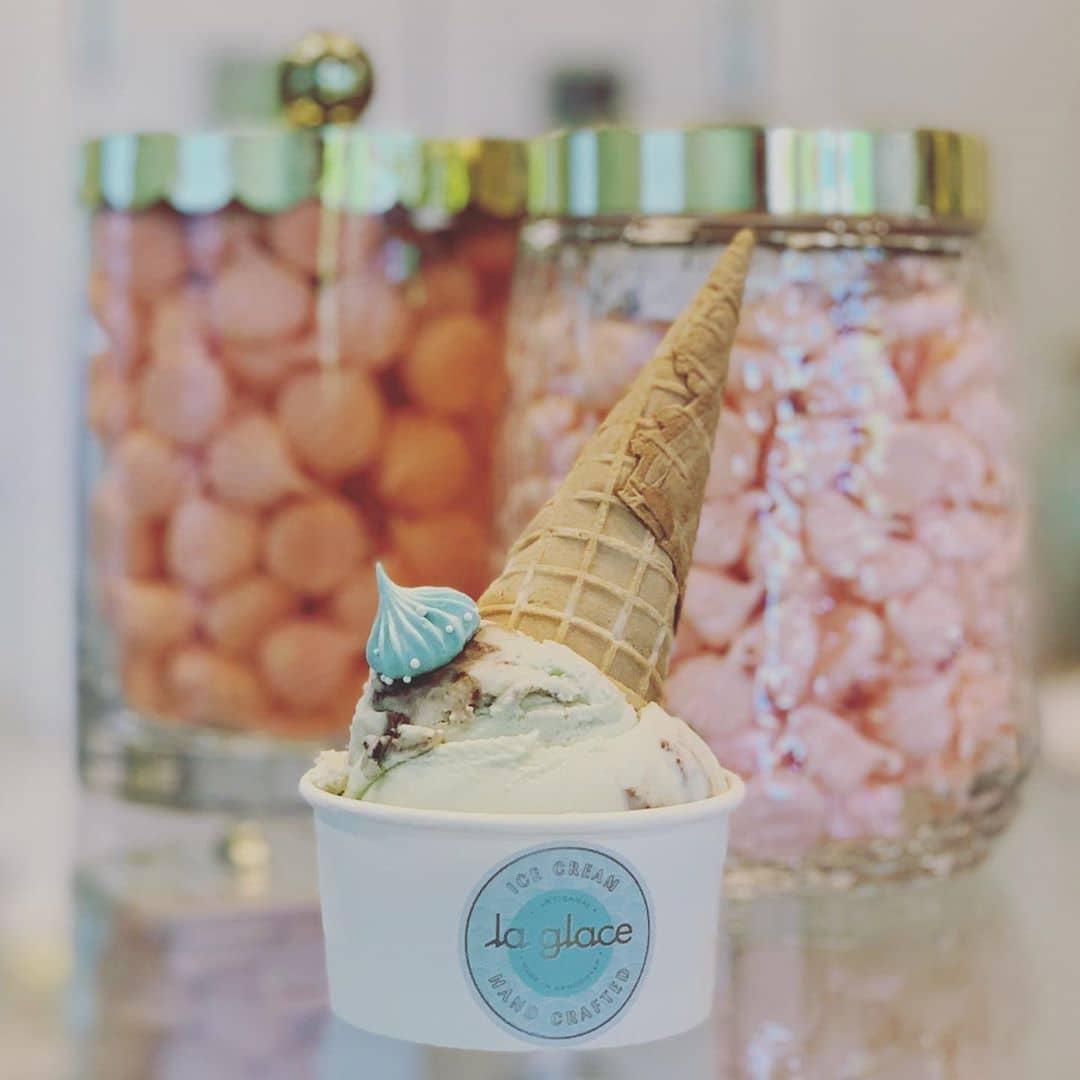 Ice cream cone in cup La Glace