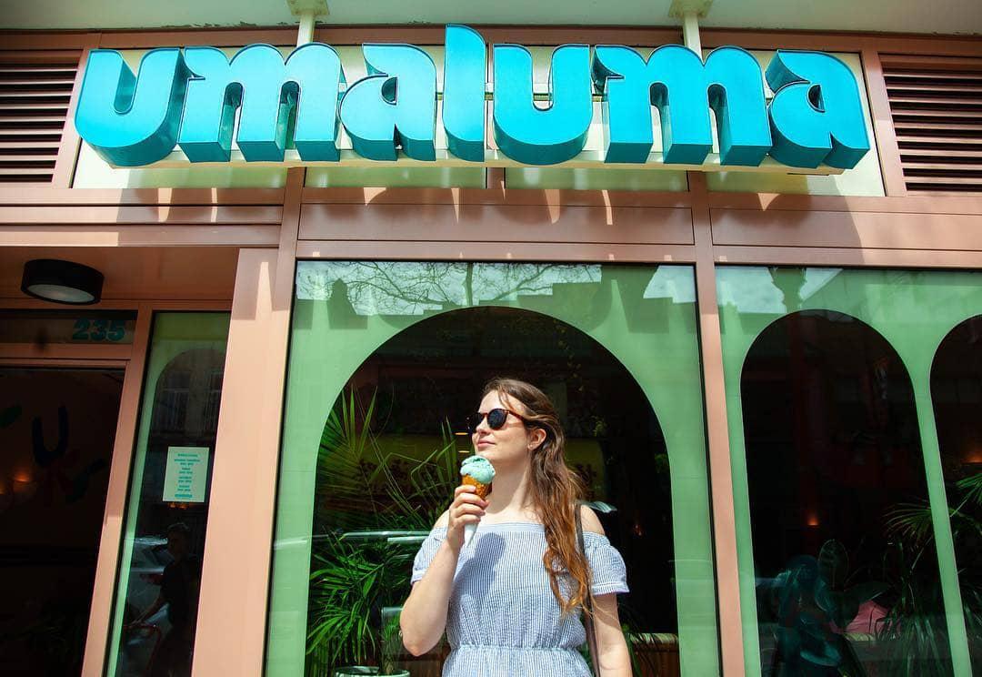 umaluma exterior sign ice cream shop
