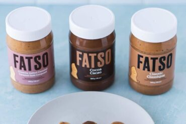 3 jars of fatso peanut butter and 3 spoons