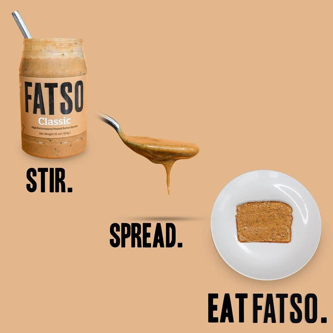 fatso peanut butter stir spread eat