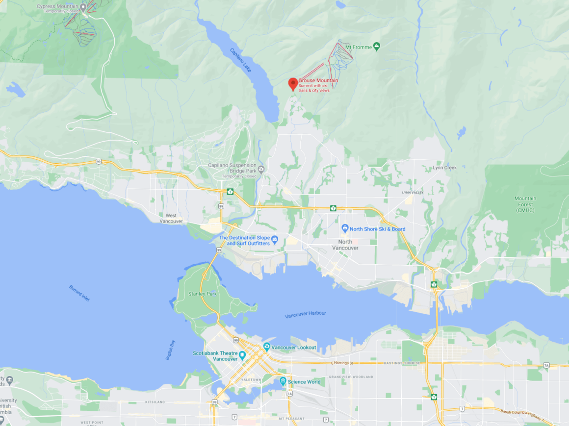 Grouse Mountain guide location
