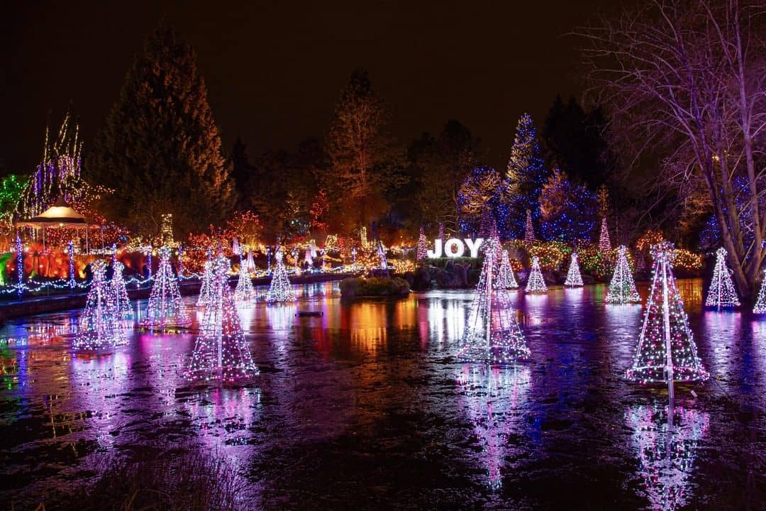 Vancouver night time activities festival of lights