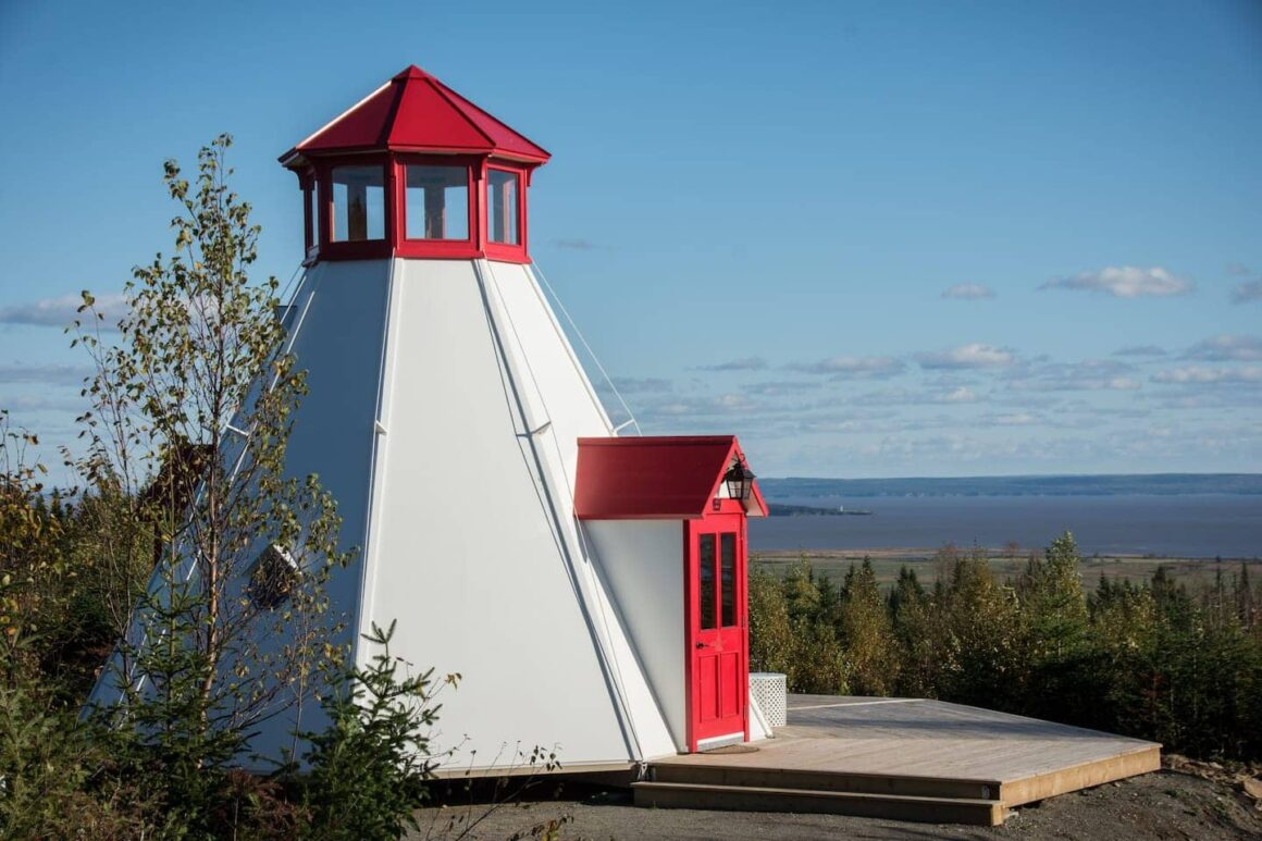 Coolest Airbnbs canada Broadleaf Glamping Cape Enrage Lighthouse