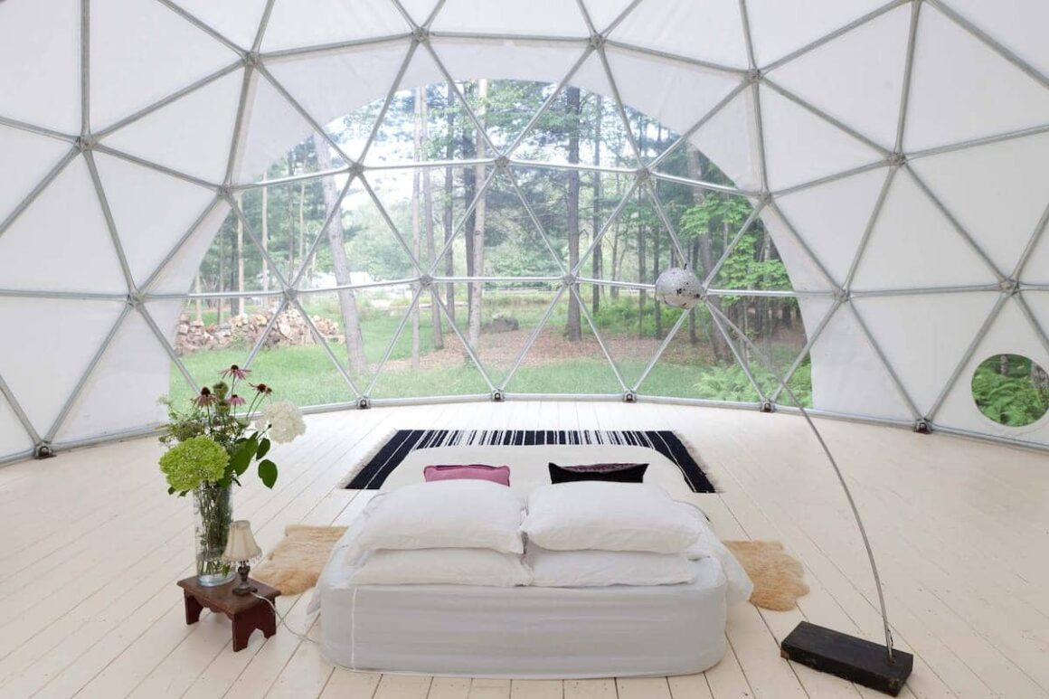 best airbnb new york Geo Dome on Farm Upstate Catskills