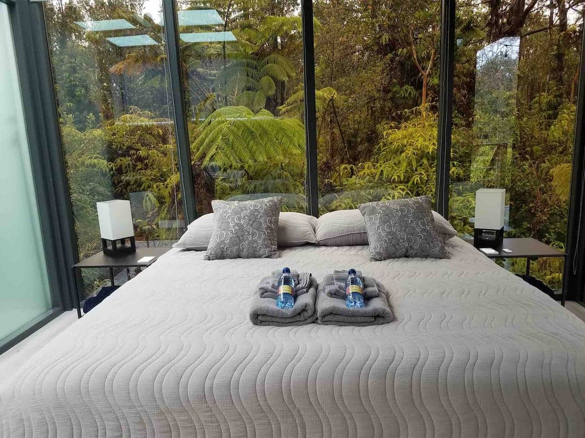 cool airbnb hawaii Glass House in the Heart of Big Island