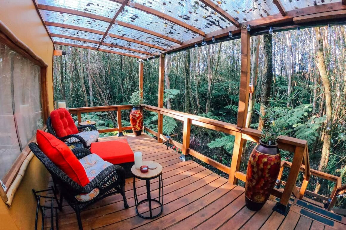 cool airbnb hawaii Peaceful Rainforest Treehouse Retreat