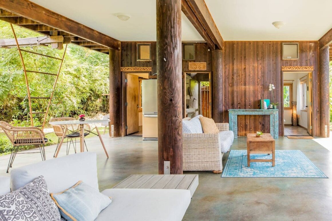 cool airbnb hawaii Tropical Garden Retreat on an Organic Mango Farm