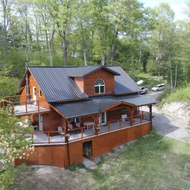 cool ontario airbnb - The Frontenac- A Curated Cabin Retreat with Sauna exterior