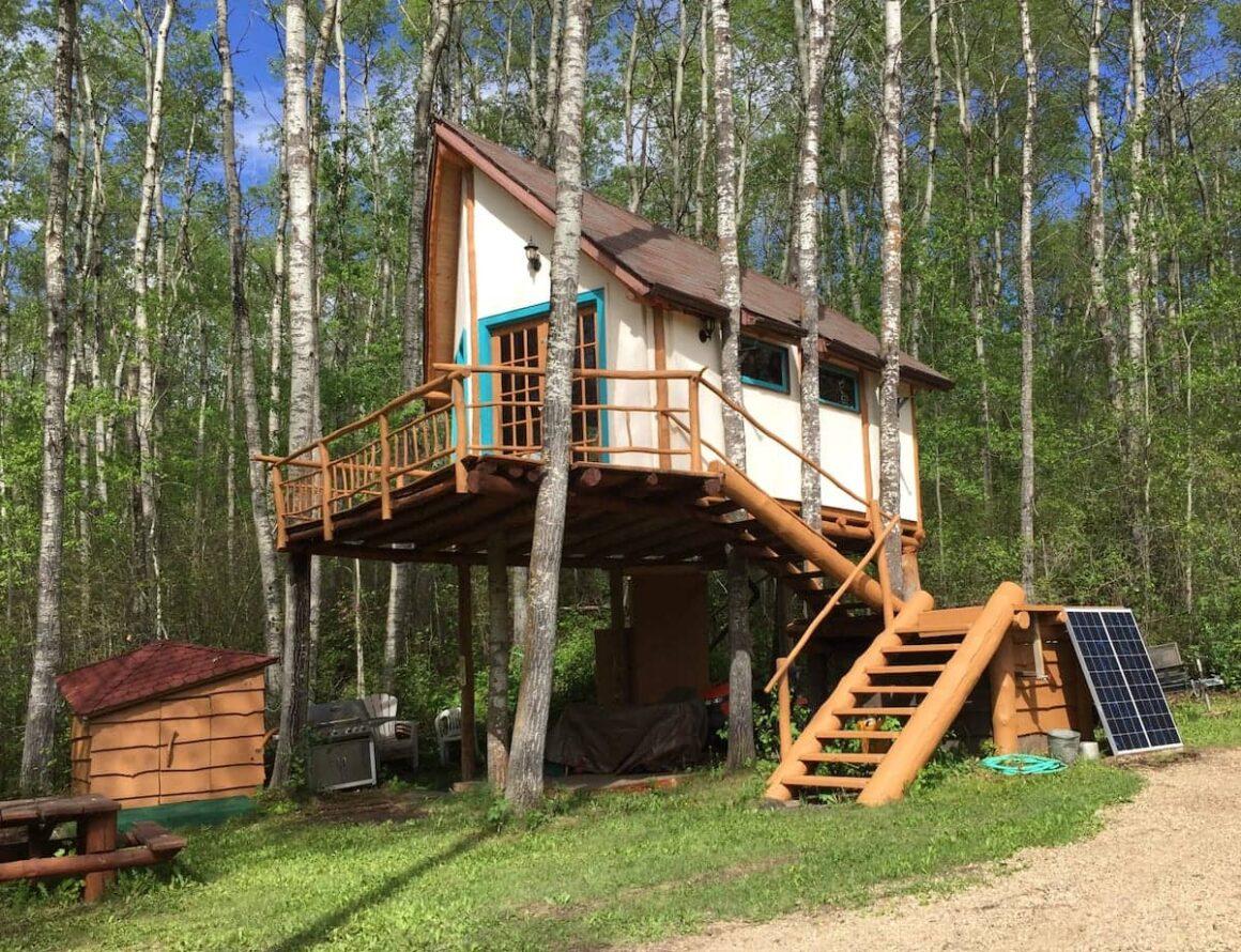 best airbnbs in Alberta Hidden Treehouse Chalet