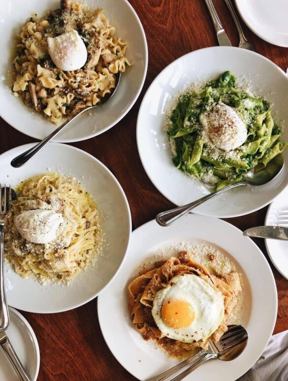 best italian restaurants in vancouver - ask luigi 4 popular pasta dishes