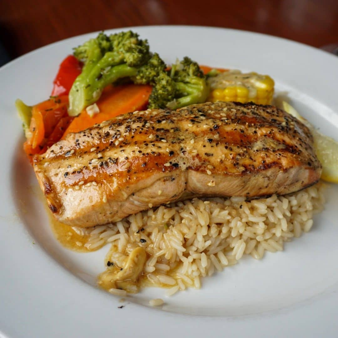 best restaurants and food in whistler 21 step kitchen and bar salmon rice