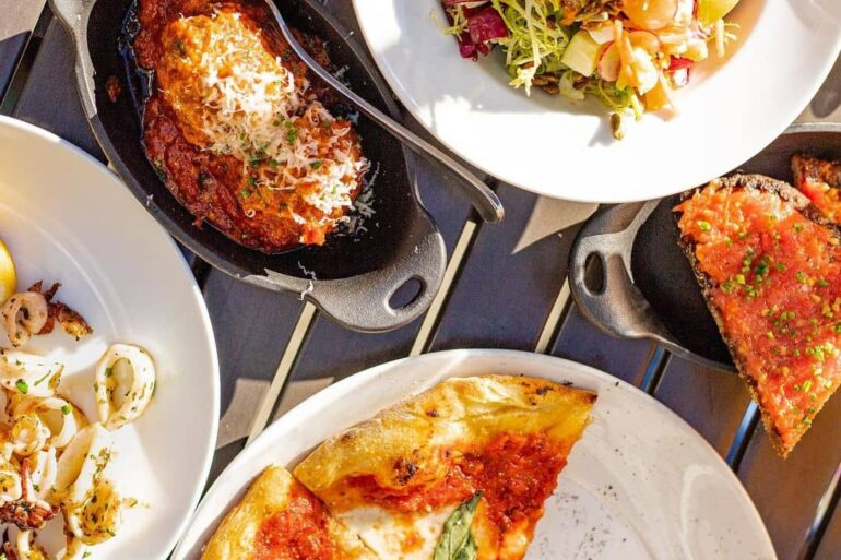 best restaurants and food in whistler caramba! outside patio pizza